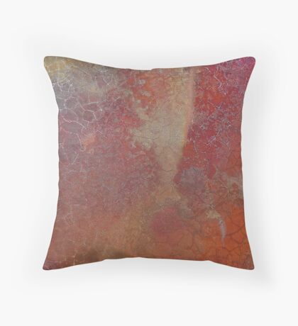 Rustic Copper Red Throw Pillow