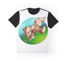 Arcanine catching a fire ball Graphic T-Shirt