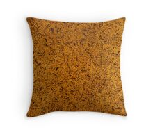 Distressed Gold  Throw Pillow