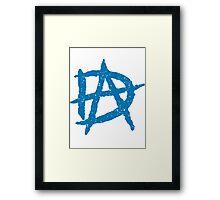 DA Anarchy Blue Framed Print