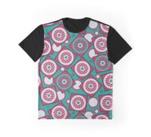 Retro pattern in the squares and circles Graphic T-Shirt