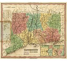 Map of Connecticut (1834) Photographic Print