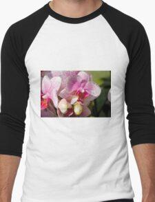 orchid bloom Men's Baseball ¾ T-Shirt