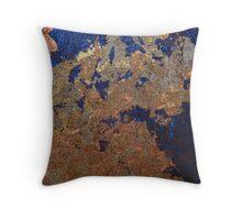 Royal Blue Copper Throw Pillow
