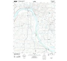 USGS TOPO Map Arkansas AR Ozark 20110729 TM Photographic Print