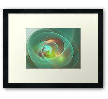 Sea Glass Orb Framed Print