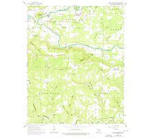 USGS TOPO Map Arkansas AR West Pangburn 259855 1963 24000 Photographic Print