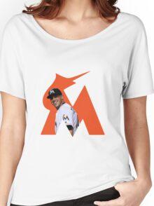 Jose Fernandez Smiling- Orange Women's Relaxed Fit T-Shirt