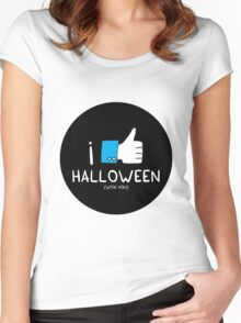 I love Halloween (with you) Women's Fitted Scoop T-Shirt