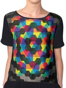 Shapes and Colors Abstract Chiffon Top