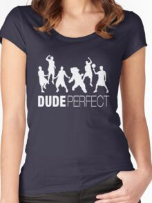 Dude Trick Shots Perfect Women's Fitted Scoop T-Shirt