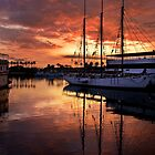 Rainbow Harbor Sunset by Celeste Mookherjee