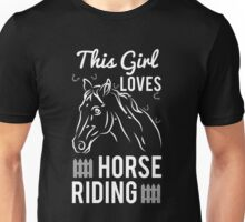 This girl loves horse riding Unisex T-Shirt