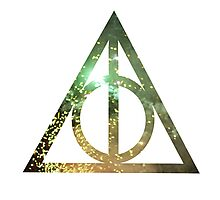 Deathly Hallows (Green) Photographic Print