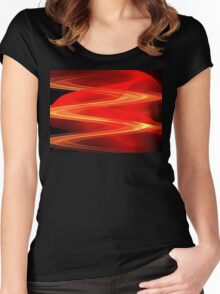 Red Sand Dunes Women's Fitted Scoop T-Shirt