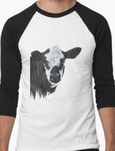 Cow Painting  Men's Baseball ¾ T-Shirt