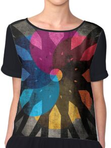 Shapes and Colors Abstract Women's Chiffon Top