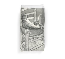 The cat's chair Duvet Cover