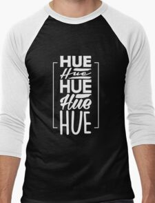 HUEHUEHUEHUE - Funny Geek Nerd Brazilian Brazil Portuguese Laugh Design Men's Baseball ¾ T-Shirt