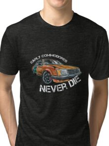 Early Commodores Never Die - Curve Tri-blend T-Shirt