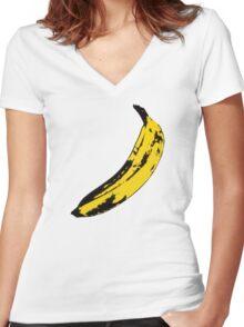 Big Yellow Banana Women's Fitted V-Neck T-Shirt