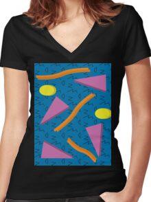 Retro Redo Women's Fitted V-Neck T-Shirt