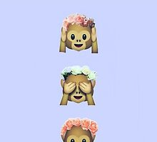 Flower Crown Monkey by GVibesShop