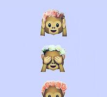 Flower Crown Monkey by GVibesShop