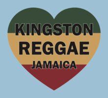 Kingston reggae jamaica heart Kids Tee