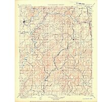 USGS TOPO Map Arkansas AR IT Tahlequah 521916 1901 125000 Photographic Print