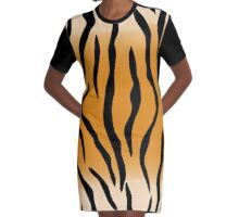 tiger skin style by hangaintan Graphic T-Shirt Dress
