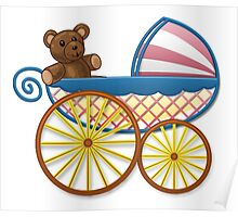 Cute Baby Carriage Poster