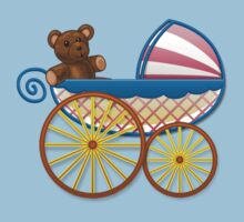 Cute Baby Carriage One Piece - Short Sleeve