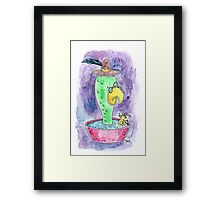 Bathing with Leduck Framed Print