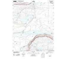 USGS TOPO Map Arkansas AR Atkins 20110721 TM Photographic Print