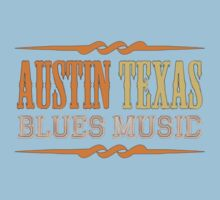 Austin texas blues music Kids Tee
