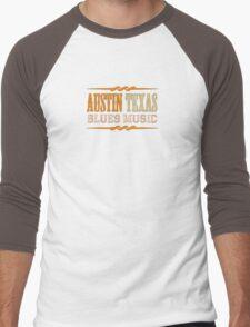 Austin texas blues music Men's Baseball ¾ T-Shirt
