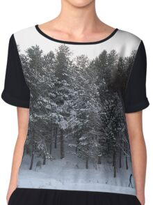 Snowstory n°1 Chiffon Top