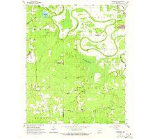 USGS TOPO Map Arkansas AR Pinebergen 259404 1964 24000 Photographic Print