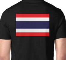 Thailand, THAI, Thai Flag, Flag of Thailand, flag of the Kingdom of Thailand, on Black Unisex T-Shirt