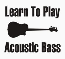 Play acoustic bass (black) One Piece - Long Sleeve