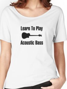 Play acoustic bass (black) Women's Relaxed Fit T-Shirt