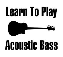 Play acoustic bass (black) Photographic Print