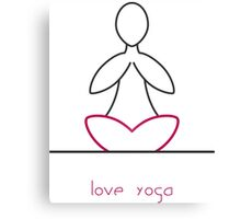 Love Yoga Canvas Print