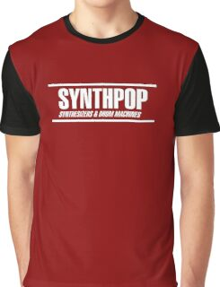 Synthpop white Graphic T-Shirt