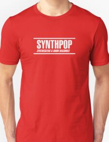Synthpop white Unisex T-Shirt
