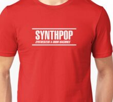 Synthpop white Unisex T-Shirt