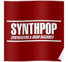 Synthpop white Poster