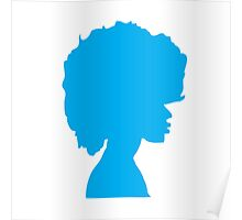 Afro Blue Poster