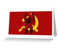 Zangief The Red Cyclone Greeting Card